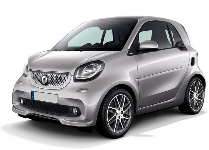 City Cars, Group A: SMART FORTWO BRABUS in promotion on Rome